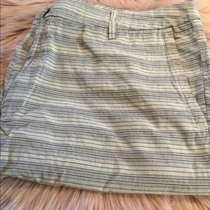 Men's 100% cotton striped shorts